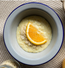 Krémes, narancsos tejbegríz