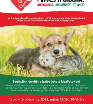 Állateledelgyűjtő akció az INTERSPAR áruházakban