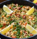 Egyszerű csirkés-kolbászos paella