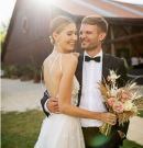 Itt az első esküvői fotó a Puskás-Dallos sztárpárról!